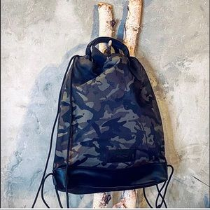 COACH TERRAIN DRAWSTRING BACKPACK WITH CAMO PRINT